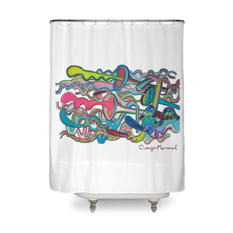 Summer composition 2 Home Shower Curtain by diegomanuel's Artist Shop
