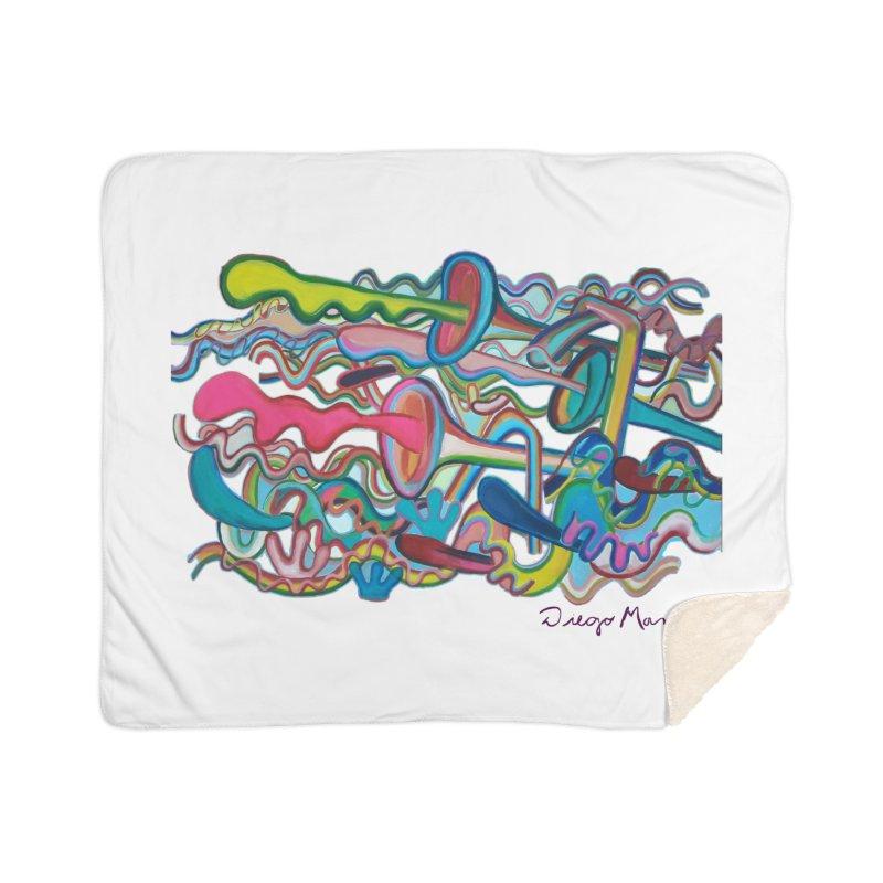 Summer composition 2 Home Sherpa Blanket Blanket by diegomanuel's Artist Shop