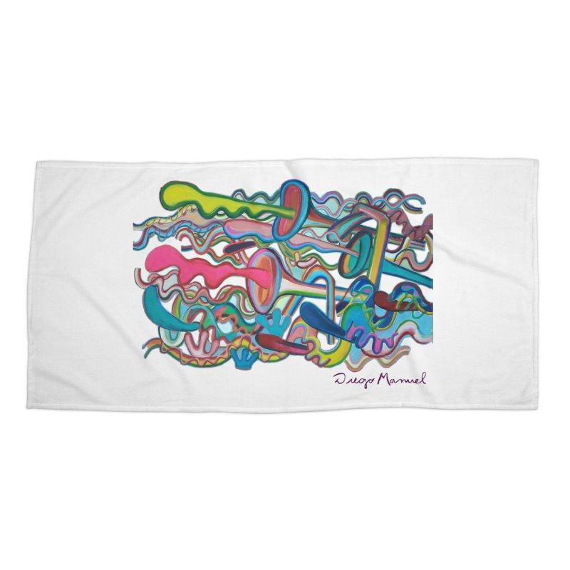 Summer composition 2 Accessories Beach Towel by Diego Manuel Rodriguez Artist Shop