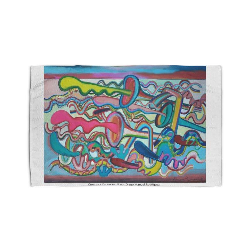 Composición verano 2 Home Rug by diegomanuel's Artist Shop