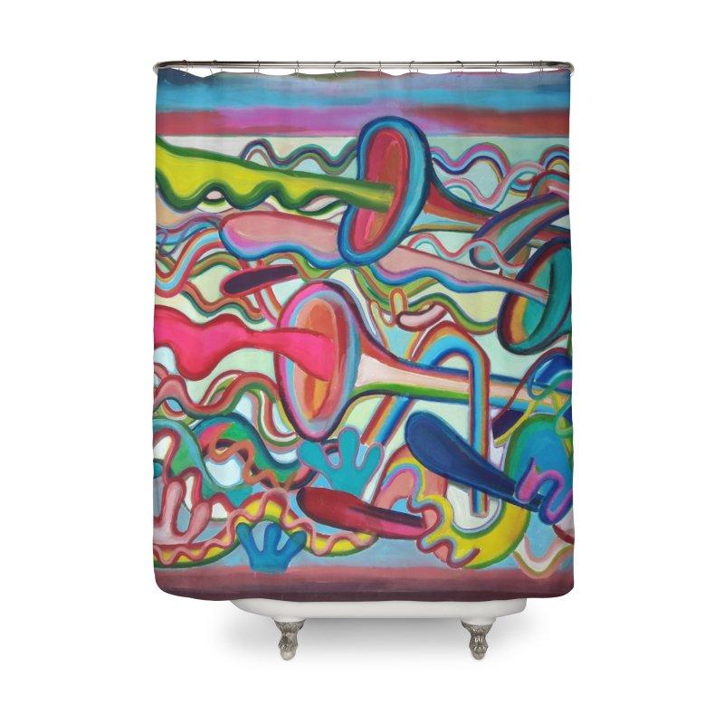 Composición verano 2 Home Shower Curtain by diegomanuel's Artist Shop