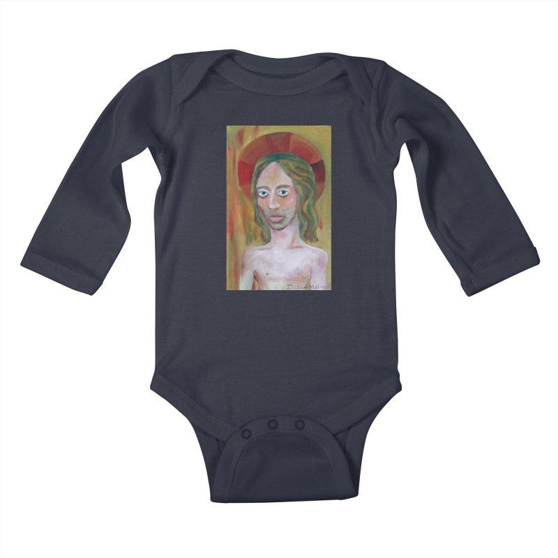 Jesús Kids Baby Longsleeve Bodysuit by diegomanuel's Artist Shop