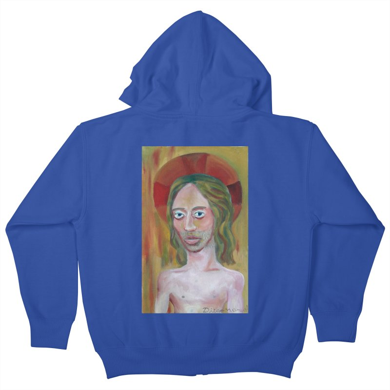 Jesús Kids Zip-Up Hoody by diegomanuel's Artist Shop