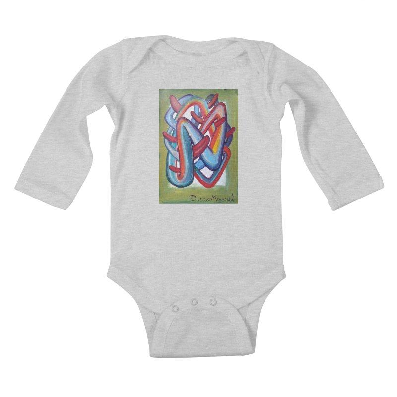 Formas en el espacio 8 Kids Baby Longsleeve Bodysuit by diegomanuel's Artist Shop