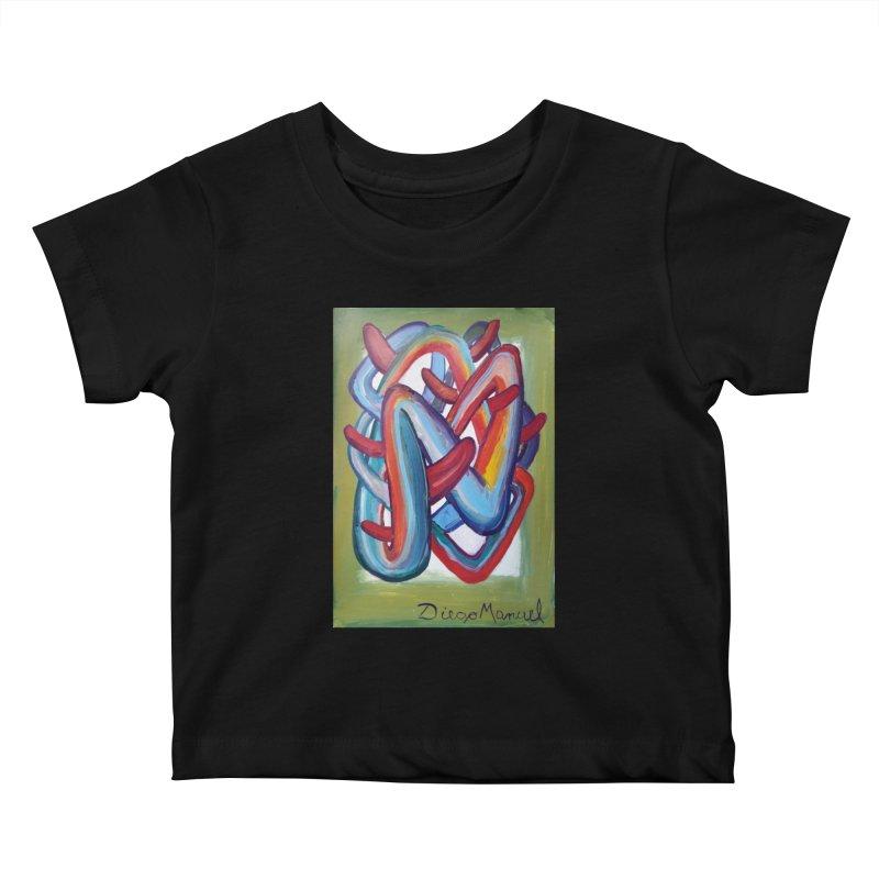 Formas en el espacio 8 Kids Baby T-Shirt by Diego Manuel Rodriguez Artist Shop