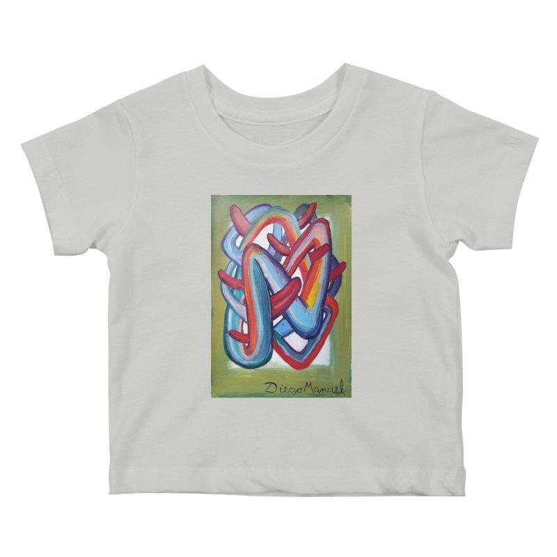 Formas en el espacio 8 Kids Baby T-Shirt by diegomanuel's Artist Shop