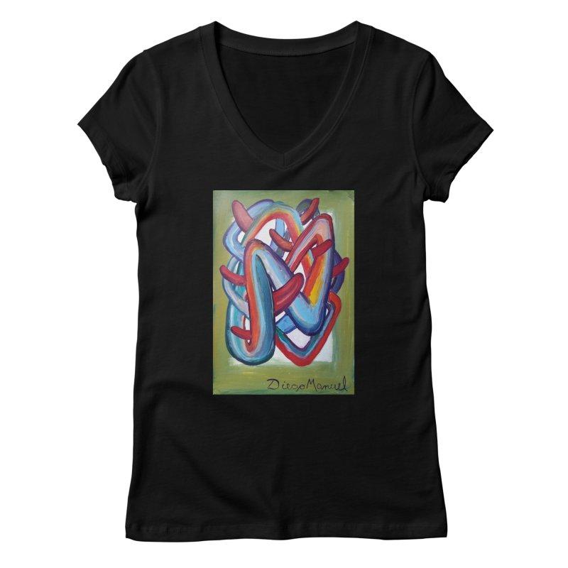 Formas en el espacio 8 Women's V-Neck by Diego Manuel Rodriguez Artist Shop