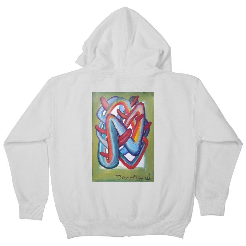 Formas en el espacio 8 Kids Zip-Up Hoody by diegomanuel's Artist Shop