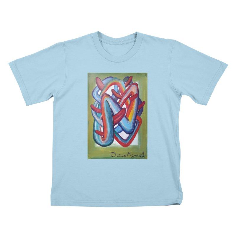Formas en el espacio 8 Kids T-Shirt by Diego Manuel Rodriguez Artist Shop