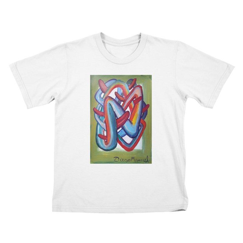 Formas en el espacio 8 Kids T-shirt by diegomanuel's Artist Shop