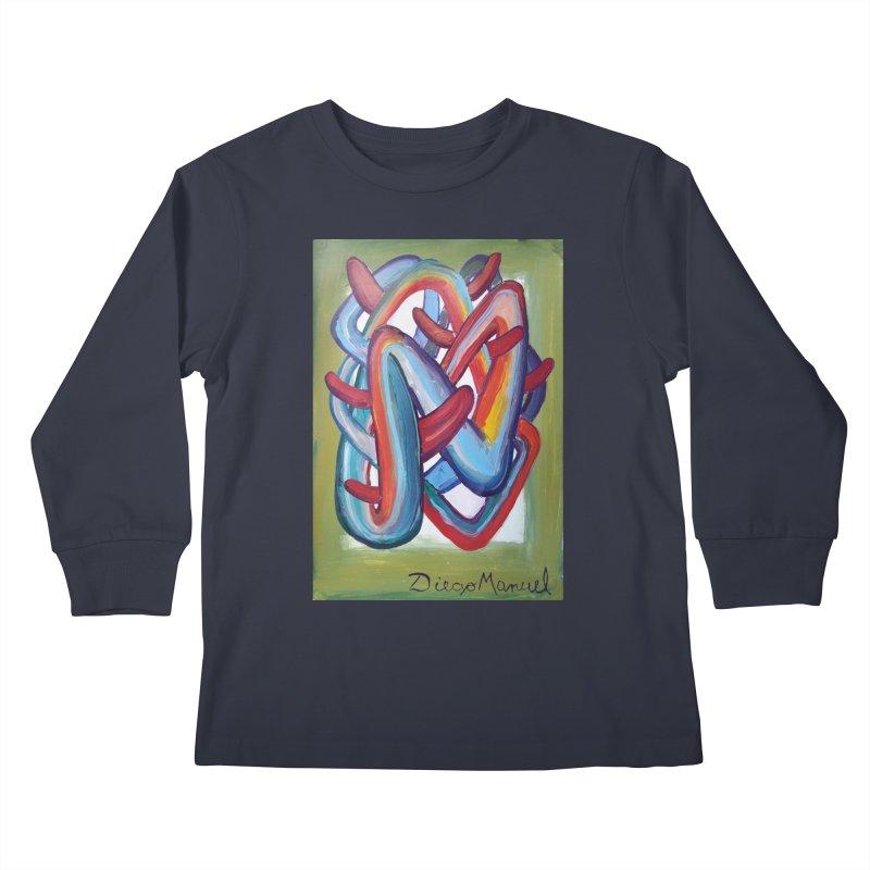 Formas en el espacio 8 Kids Longsleeve T-Shirt by Diego Manuel Rodriguez Artist Shop