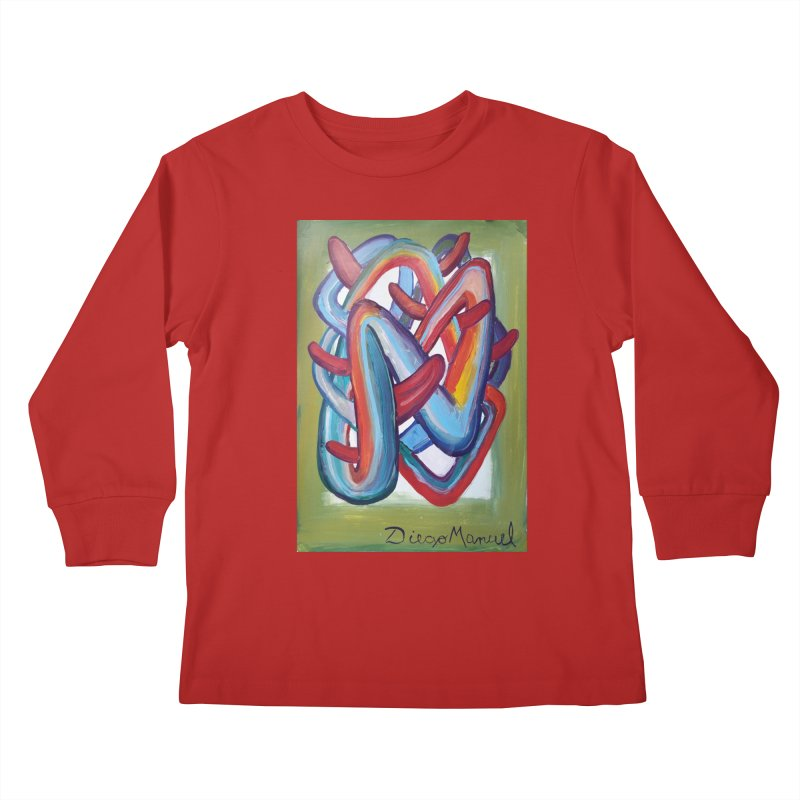 Formas en el espacio 8 Kids Longsleeve T-Shirt by diegomanuel's Artist Shop