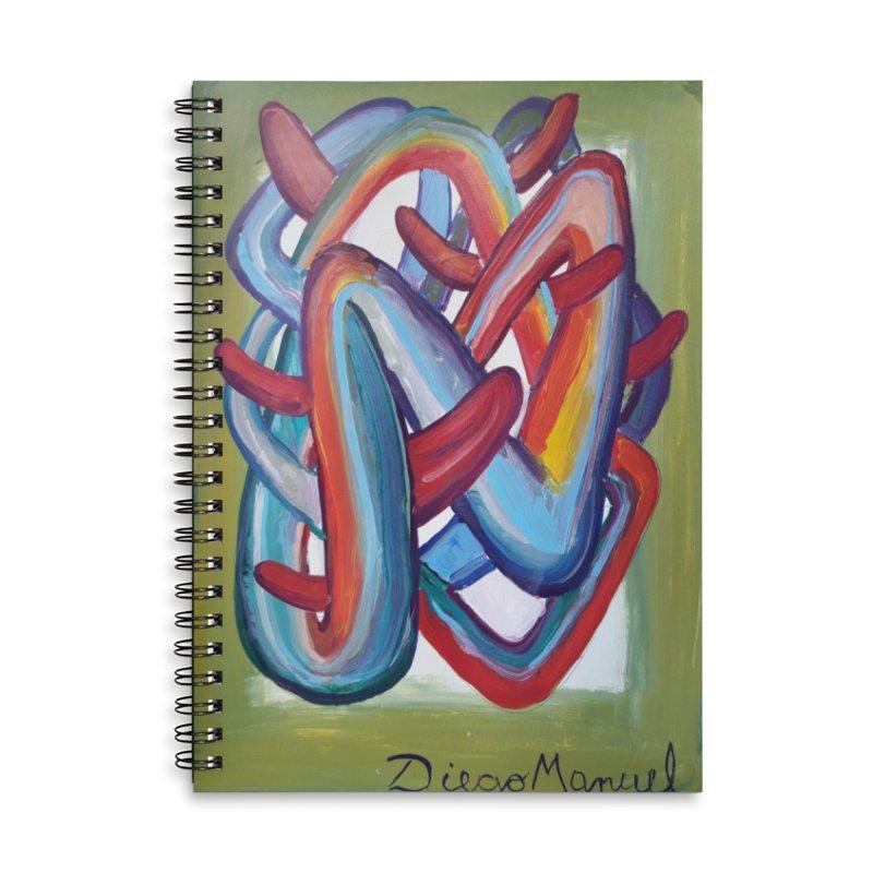 Formas en el espacio 8 Accessories Lined Spiral Notebook by diegomanuel's Artist Shop