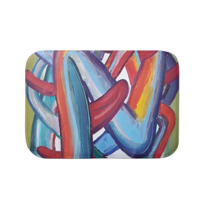 Formas en el espacio 8 Home Bath Mat by diegomanuel's Artist Shop