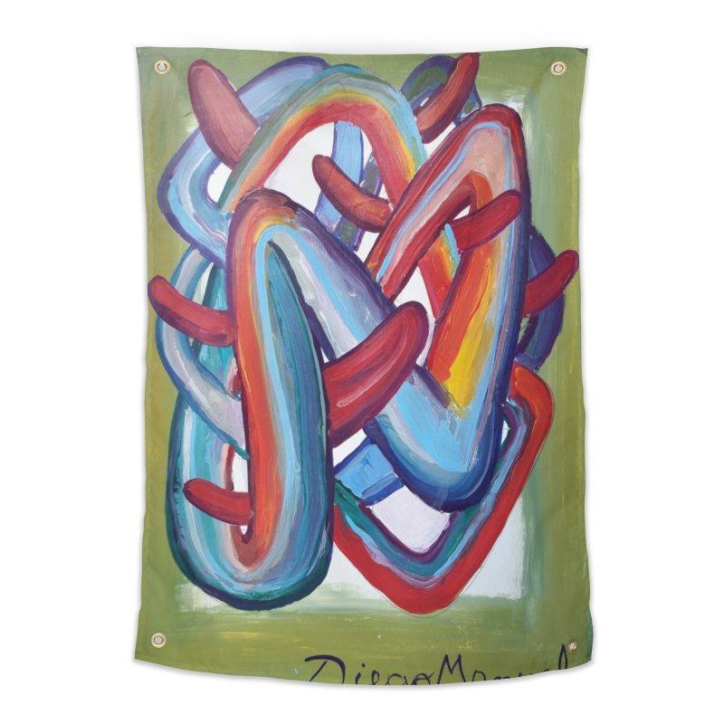 Formas en el espacio 8 Home Tapestry by diegomanuel's Artist Shop