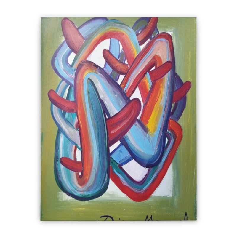 Formas en el espacio 8 Home Stretched Canvas by Diego Manuel Rodriguez Artist Shop