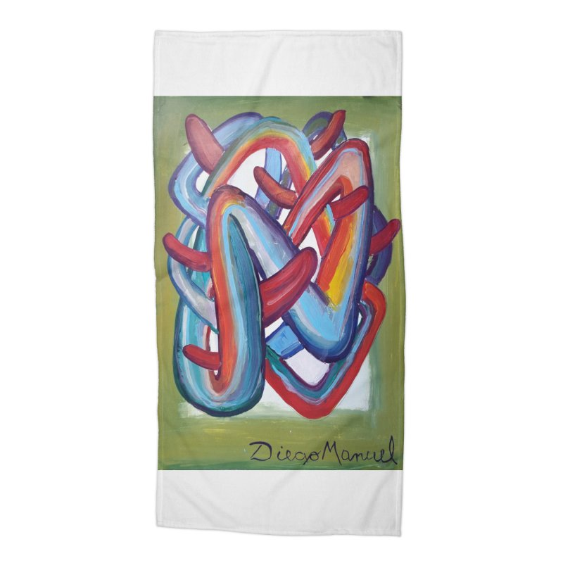 Formas en el espacio 8 Accessories Beach Towel by Diego Manuel Rodriguez Artist Shop