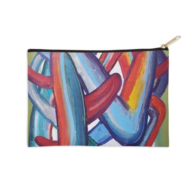 Formas en el espacio 8 Accessories Zip Pouch by Diego Manuel Rodriguez Artist Shop