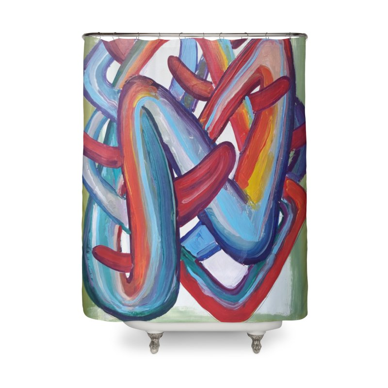Formas en el espacio 8 Home Shower Curtain by Diego Manuel Rodriguez Artist Shop