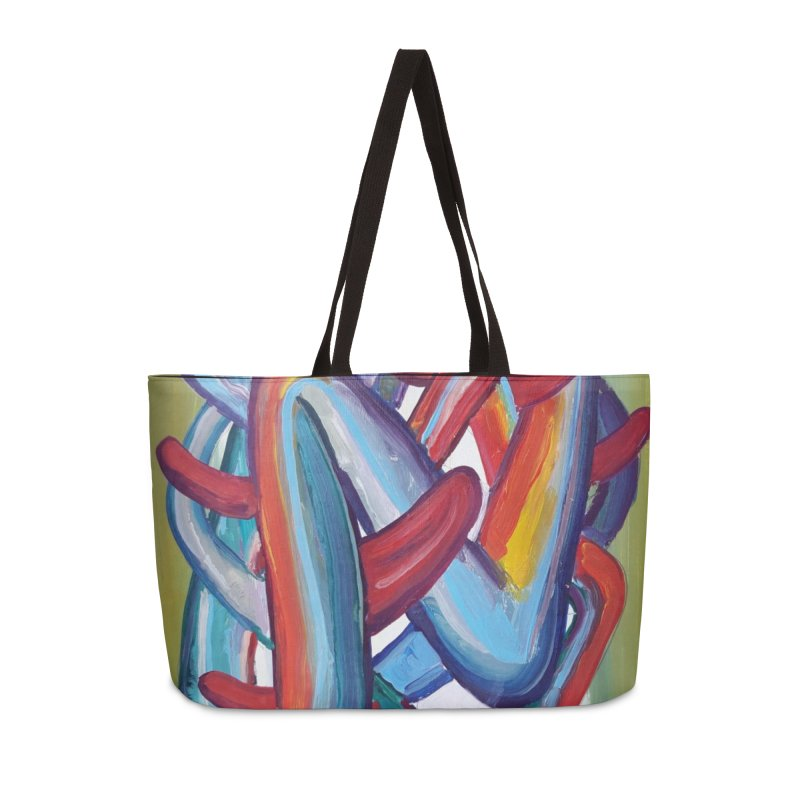 Formas en el espacio 8 Accessories Weekender Bag Bag by diegomanuel's Artist Shop