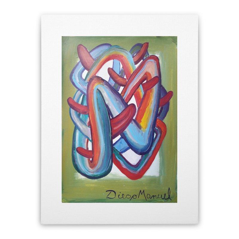 Formas en el espacio 8 Home Stretched Canvas by Diego Manuel Rodriguez Artist Shop