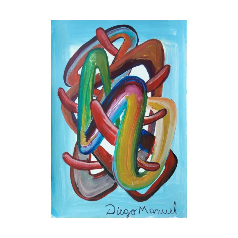 Formas en el espacio 7 Home Stretched Canvas by Diego Manuel Rodriguez Artist Shop