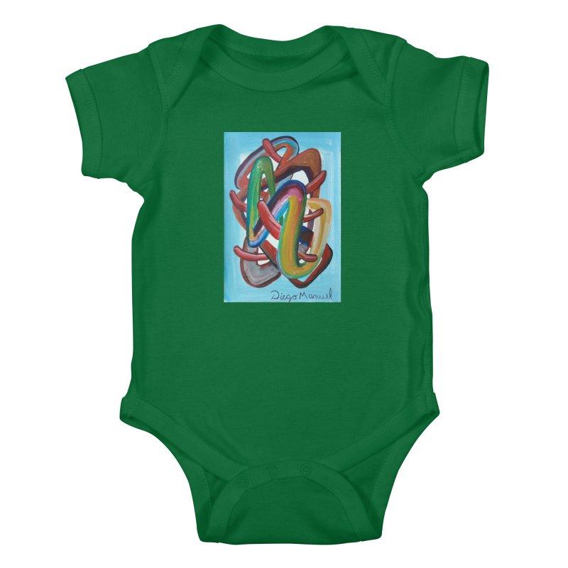 Formas en el espacio 7 Kids Baby Bodysuit by Diego Manuel Rodriguez Artist Shop