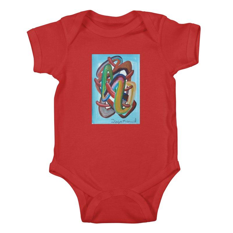 Formas en el espacio 7 Kids Baby Bodysuit by diegomanuel's Artist Shop