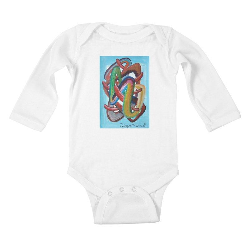 Formas en el espacio 7 Kids Baby Longsleeve Bodysuit by diegomanuel's Artist Shop