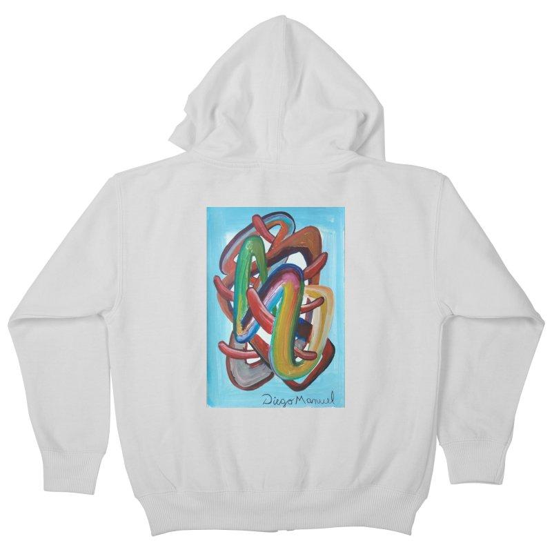 Formas en el espacio 7 Kids Zip-Up Hoody by diegomanuel's Artist Shop