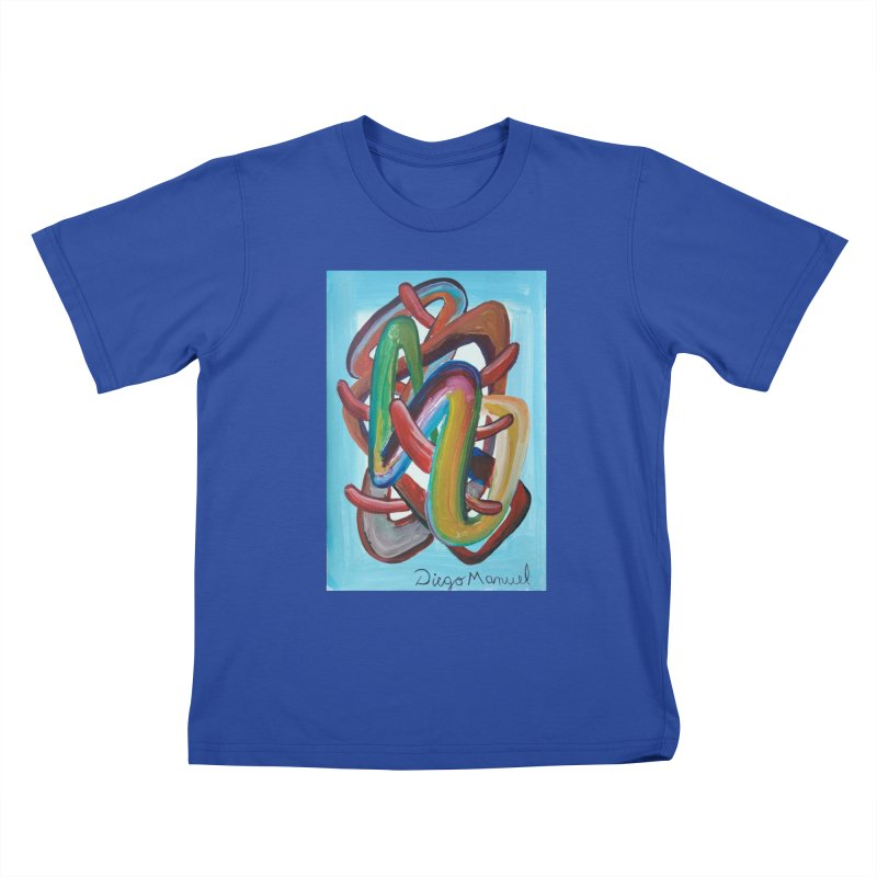 Formas en el espacio 7 Kids T-Shirt by Diego Manuel Rodriguez Artist Shop