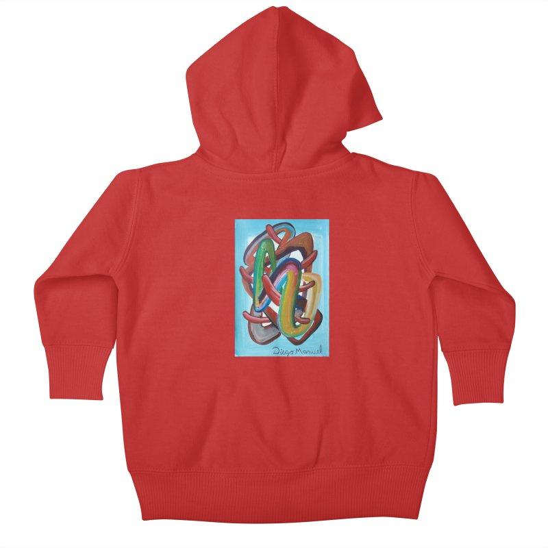 Formas en el espacio 7 Kids Baby Zip-Up Hoody by diegomanuel's Artist Shop