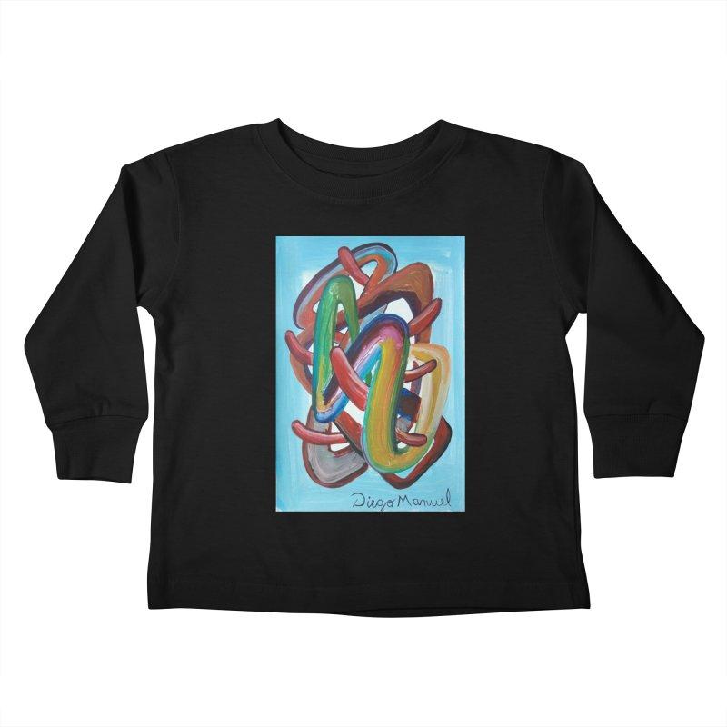 Formas en el espacio 7 Kids Toddler Longsleeve T-Shirt by Diego Manuel Rodriguez Artist Shop