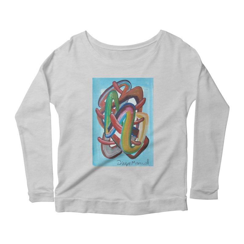 Formas en el espacio 7 Women's Scoop Neck Longsleeve T-Shirt by diegomanuel's Artist Shop
