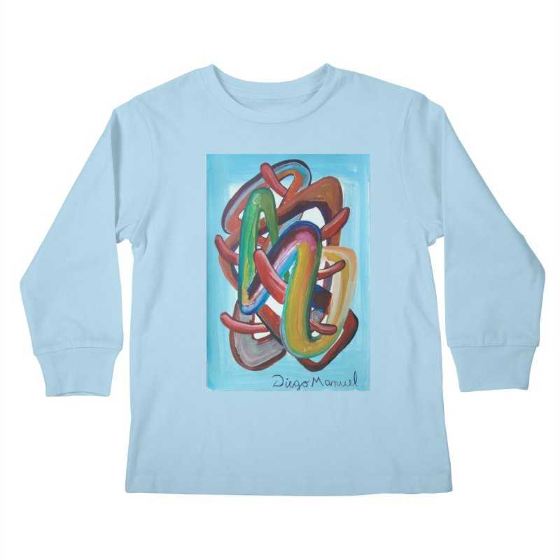 Formas en el espacio 7 Kids Longsleeve T-Shirt by diegomanuel's Artist Shop