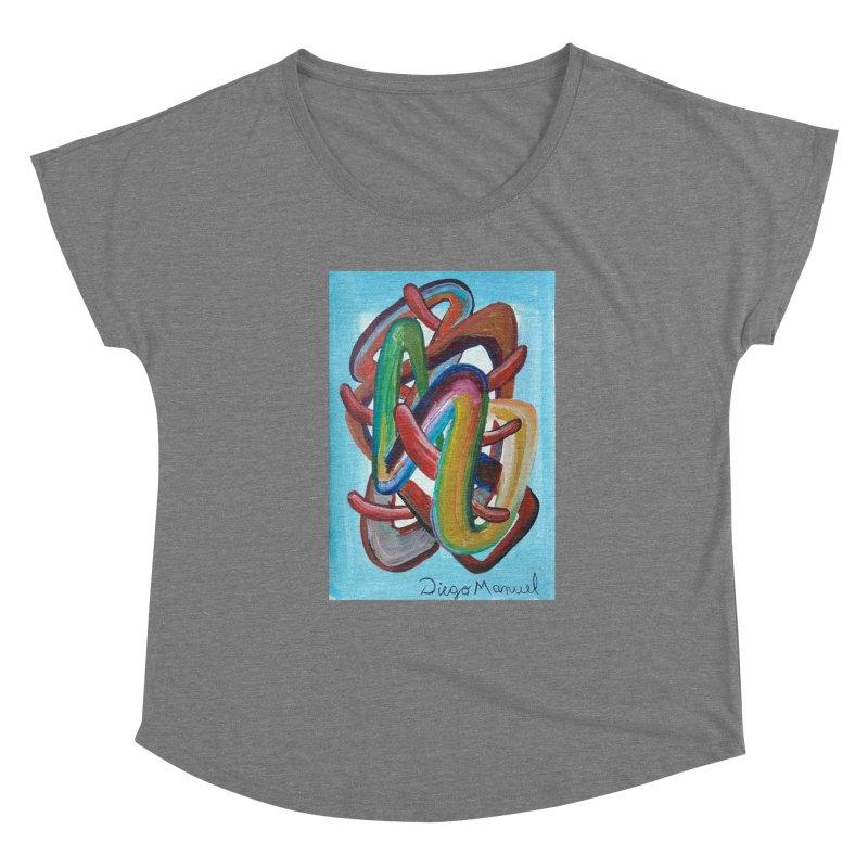 Formas en el espacio 7 Women's Scoop Neck by Diego Manuel Rodriguez Artist Shop