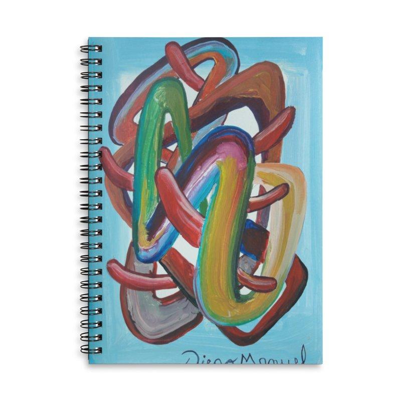 Formas en el espacio 7 Accessories Lined Spiral Notebook by diegomanuel's Artist Shop