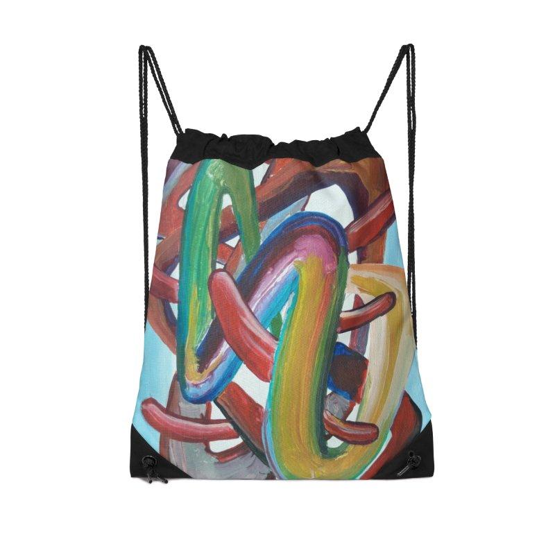 Formas en el espacio 7 Accessories Drawstring Bag Bag by diegomanuel's Artist Shop