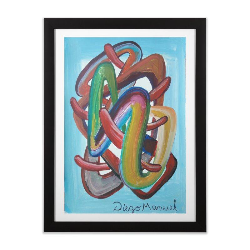 Formas en el espacio 7 Home Framed Fine Art Print by diegomanuel's Artist Shop