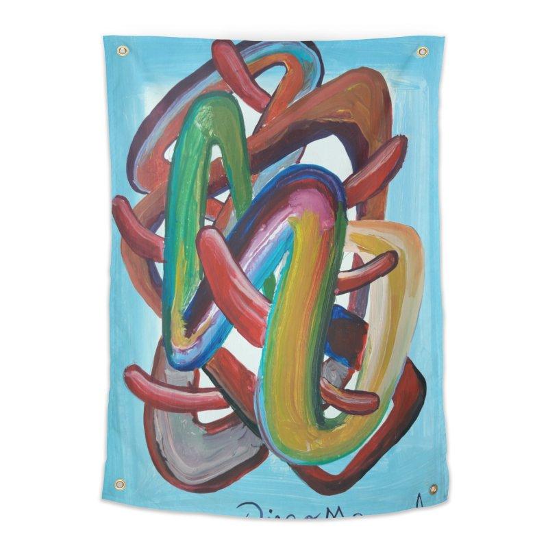 Formas en el espacio 7 Home Tapestry by diegomanuel's Artist Shop