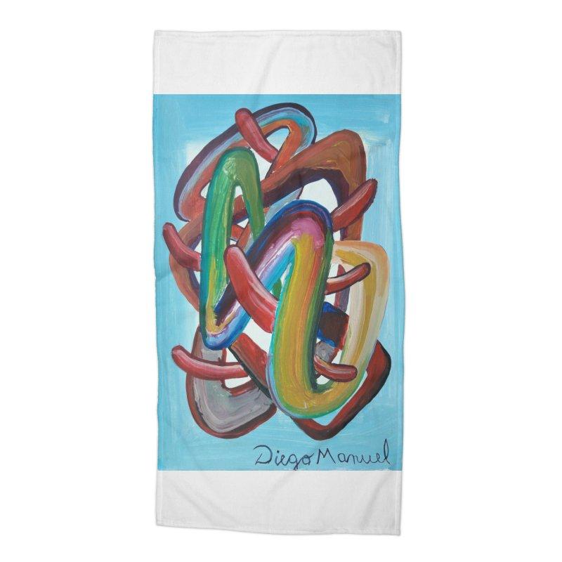 Formas en el espacio 7 Accessories Beach Towel by Diego Manuel Rodriguez Artist Shop