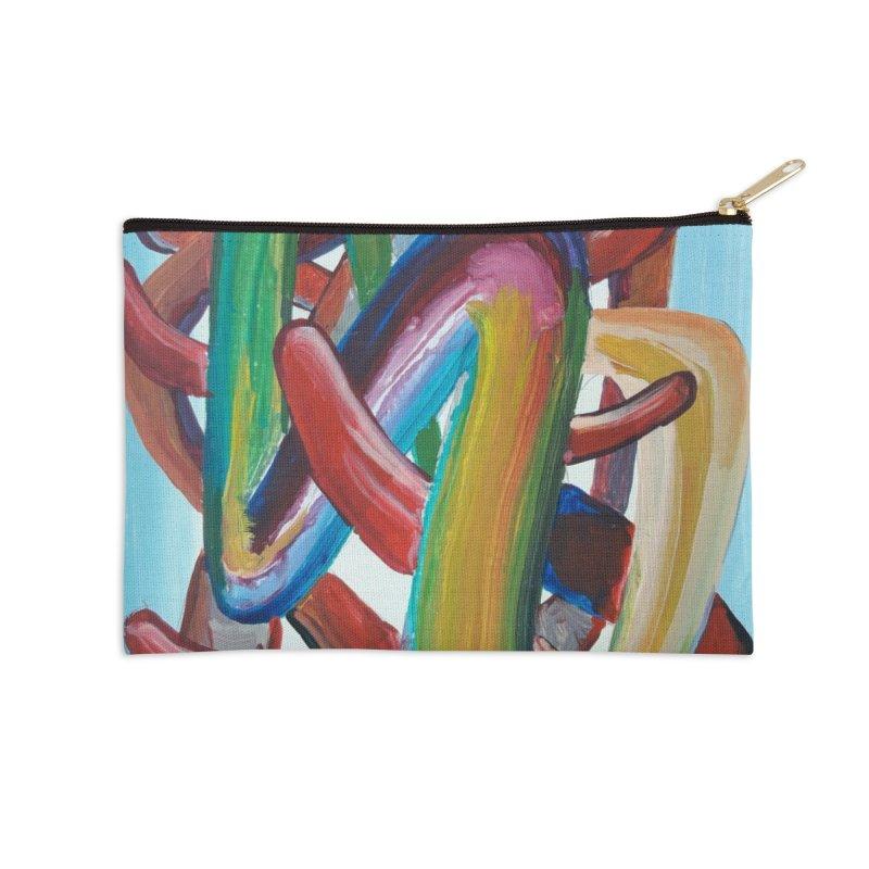 Formas en el espacio 7 Accessories Zip Pouch by Diego Manuel Rodriguez Artist Shop