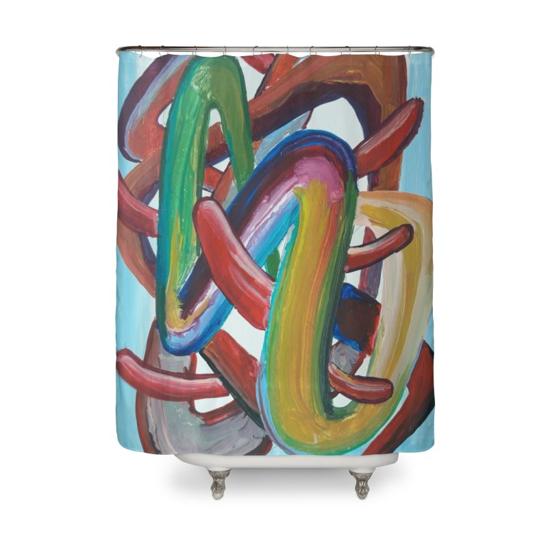 Formas en el espacio 7 Home Shower Curtain by Diego Manuel Rodriguez Artist Shop
