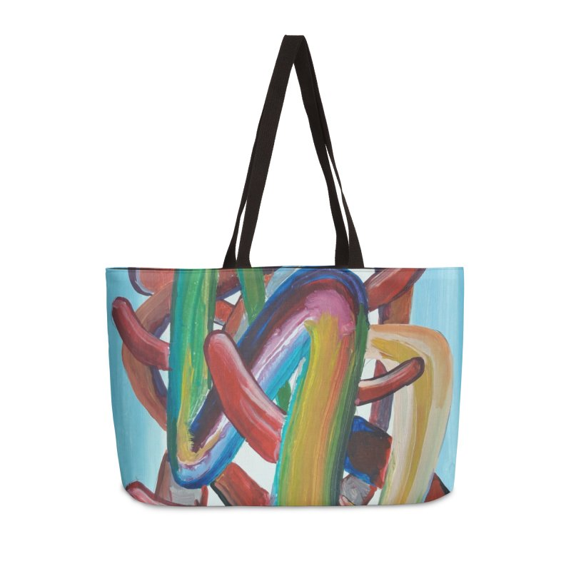 Formas en el espacio 7 Accessories Weekender Bag Bag by diegomanuel's Artist Shop