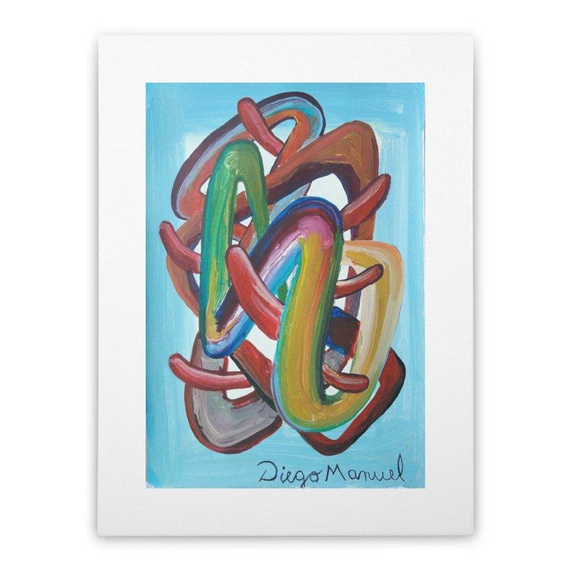 Formas en el espacio 7 Home Stretched Canvas by Diego Manuel Rodriguez Artist Shop