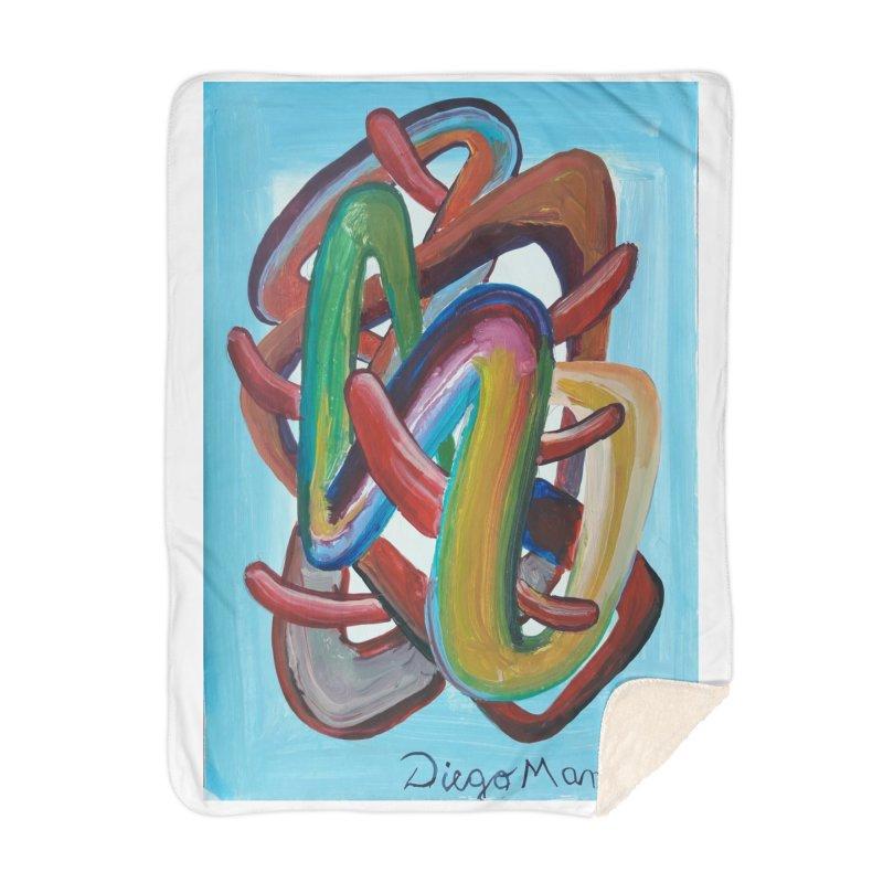 Formas en el espacio 7 Home Blanket by Diego Manuel Rodriguez Artist Shop