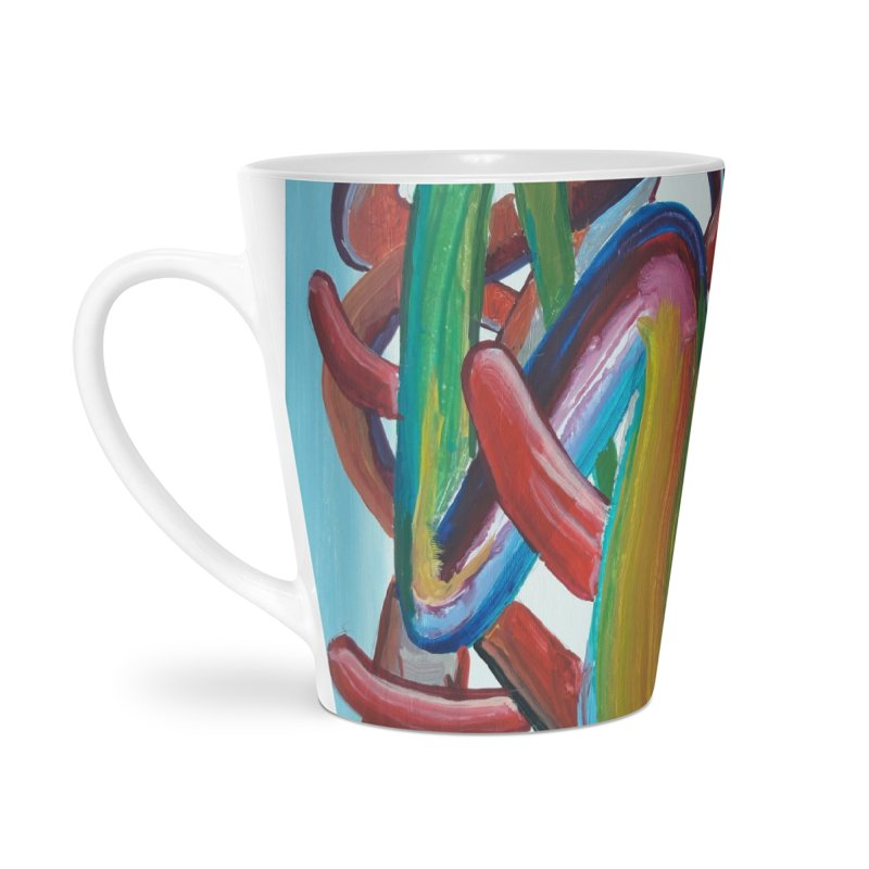 Formas en el espacio 7 Accessories Latte Mug by diegomanuel's Artist Shop