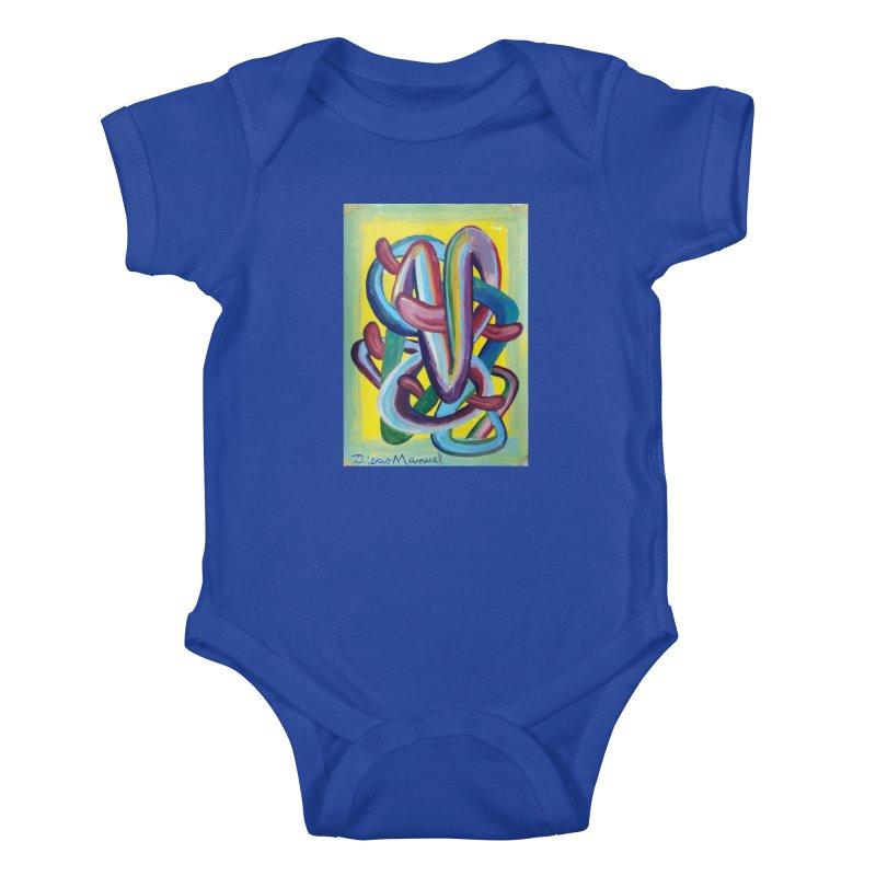 Formas en el espacio 6 Kids Baby Bodysuit by diegomanuel's Artist Shop