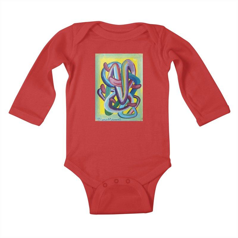 Formas en el espacio 6 Kids Baby Longsleeve Bodysuit by diegomanuel's Artist Shop