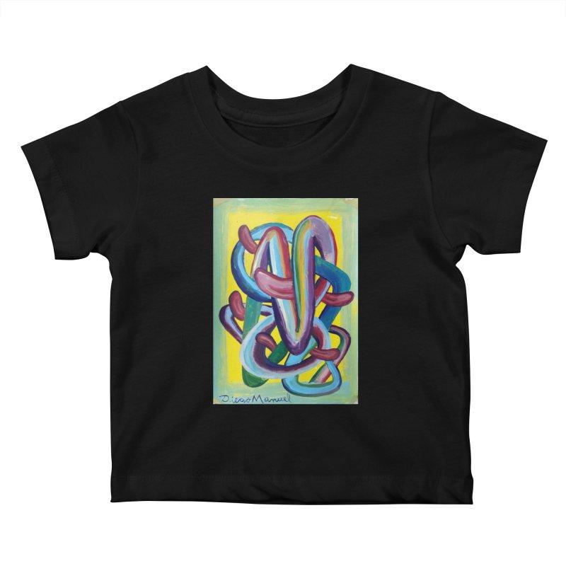 Formas en el espacio 6 Kids Baby T-Shirt by Diego Manuel Rodriguez Artist Shop